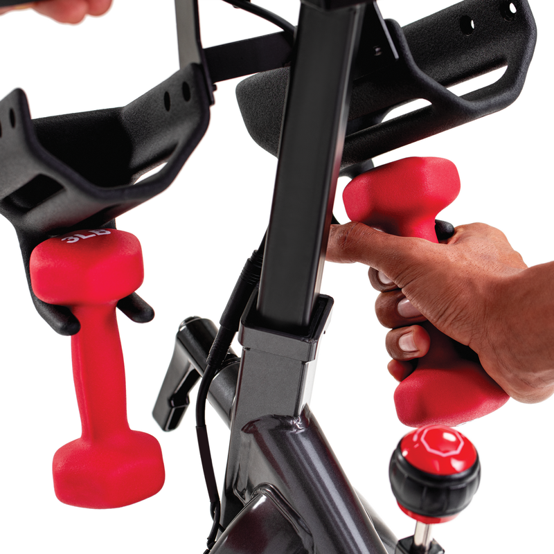 Schwinn IC4 Bike with Dumbbells - expanded view