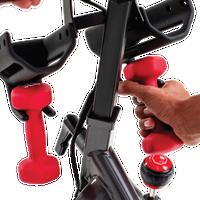 Schwinn IC4 Bike with Dumbbells--thumbnail