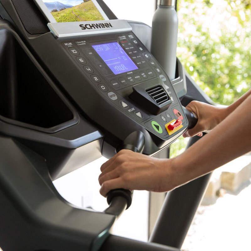 Schwinn 810 Treadmill Console - expanded view