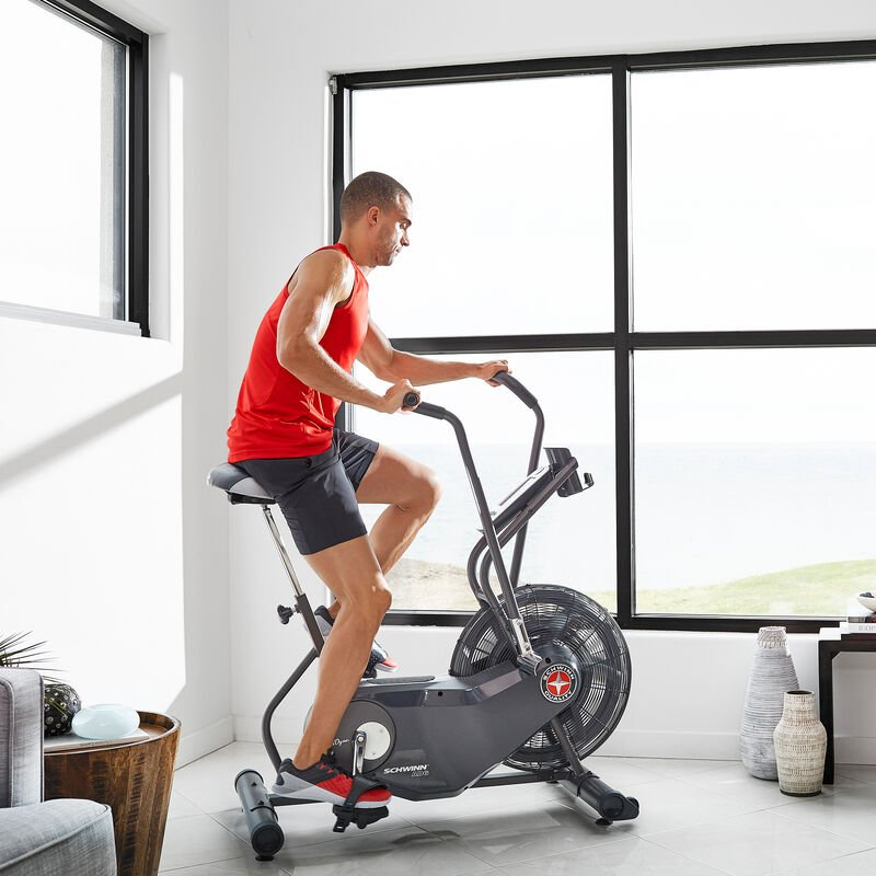 In-home workout with AD6 bike - expanded view