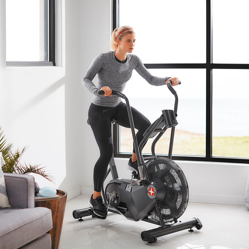 AD6 bike workout in living room - expanded view