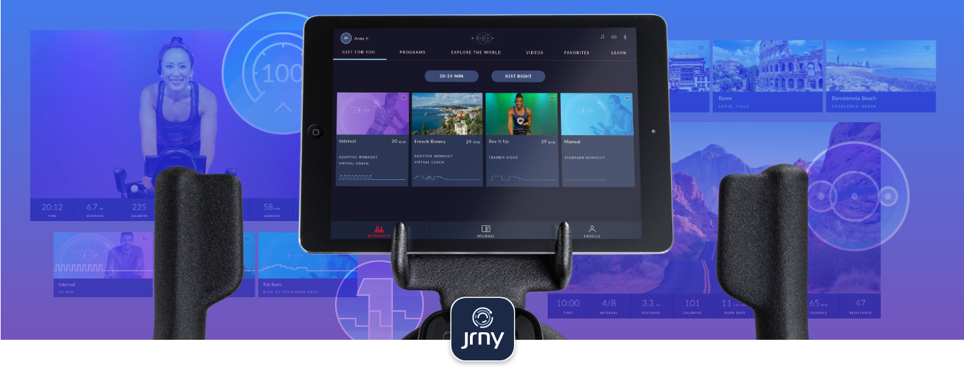 JRNY connectivity with IC4 Bike